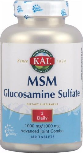 Kal  MSM Glucosamine Sulfate Perspective: front