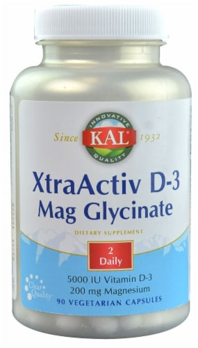 KAL  XtraActiv D-3 Mag Glycinate Perspective: front
