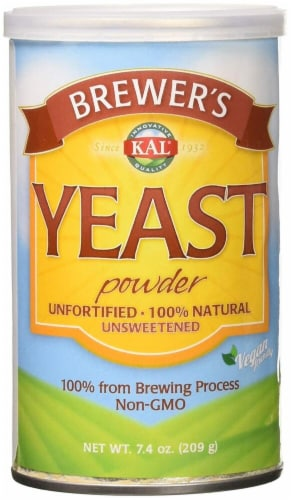 KAL Brewer's Yeast Unsweetened Powder Perspective: front