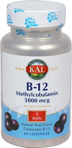KAL  B-12 Methylcobalamin   Natural Acai Perspective: front