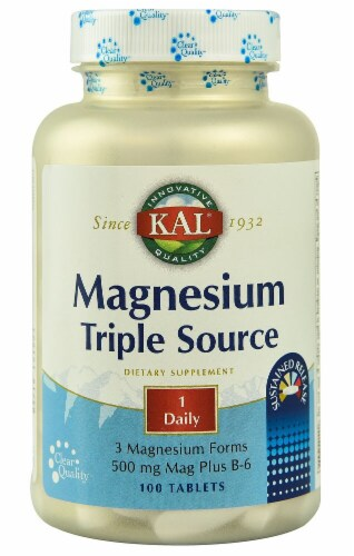 KAL  Magnesium Triple Source Sustained Release Perspective: front