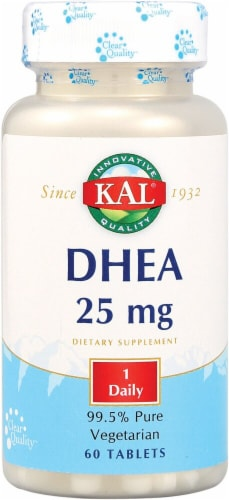 Kal DHEA Tablets 25 mg Perspective: front