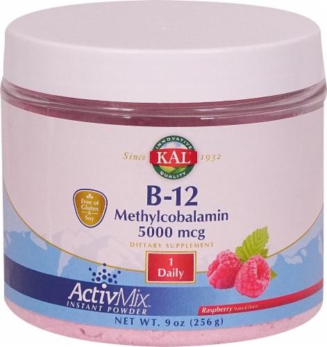 KAL  B-12 Methylcobalamin   Raspberry 5000 mcg Perspective: front