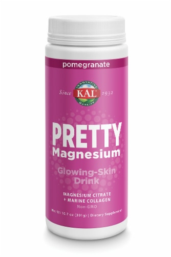 KAL Pretty Magnesium Pomegranate Glowing-Skin Drink Perspective: front