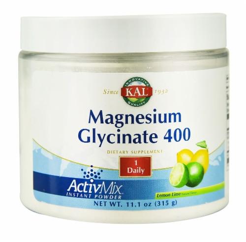 KAL  Magnesium Glycinate 400 ActivMix™ Instant Powder   Lemon Lime Perspective: front