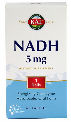 Kal NADH 5mg Tablets Perspective: front