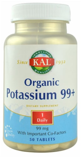 KAL  Potassium 99+ Amino Acid Chelate Tablets Perspective: front