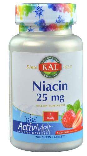 KAL  Niacin ActivMelt™   Strawberry Perspective: front