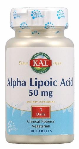 KAL Alpha Lipoic Acid Tablets 50 mg Perspective: front