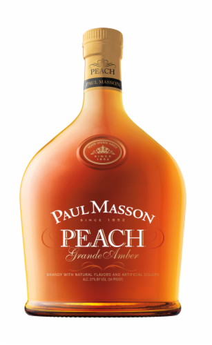 Paul Masson Peach Grande Amber Brandy Perspective: front