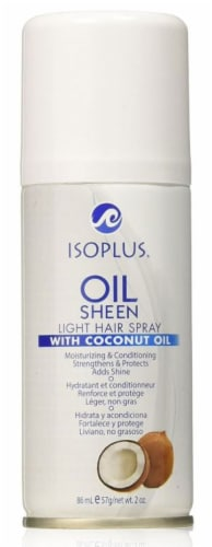 Isoplus Coconut Oil Sheen Light Hair Spray Perspective: front