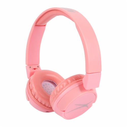 Altec Lansing Blueetooth 2 n 1 Over Ear Headphones - Pink Perspective: front