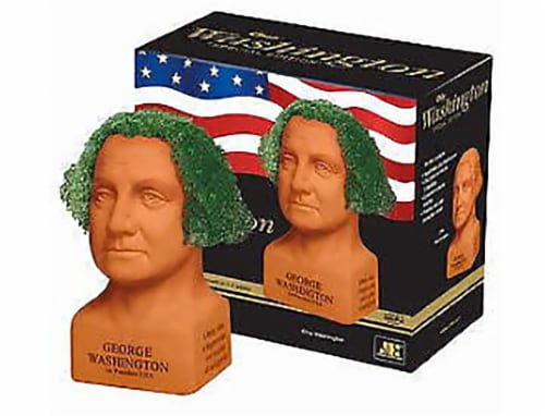 Chia Pet Planter- Freedom of Choice George Washington   - Determined Perspective: front