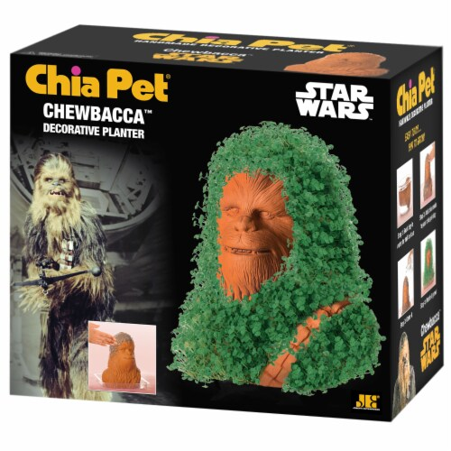 Chia Pet Star Wars Chewbacca Decorative Planter Perspective: front