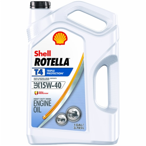 Rotella T4 Triple Protection 15W-40 Engine Oil Perspective: front
