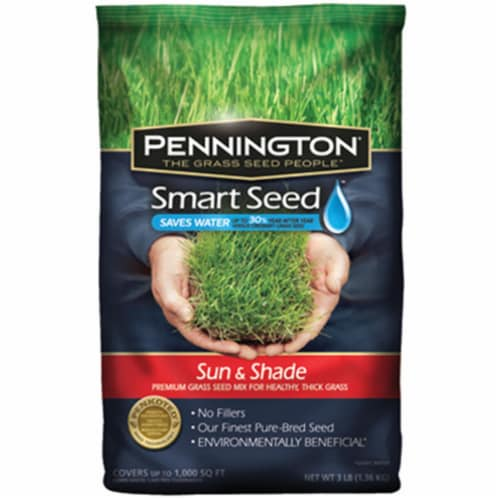 Pennington Seed 100086838 3 lbs. Smart Seed Sun & Shade North Premium Grass Seed Perspective: front