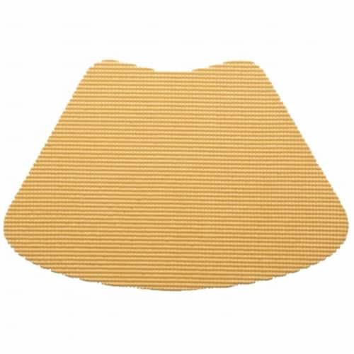 Kraftware 38639 Fishnet Wedge Placemat Dz. Camel Perspective: front