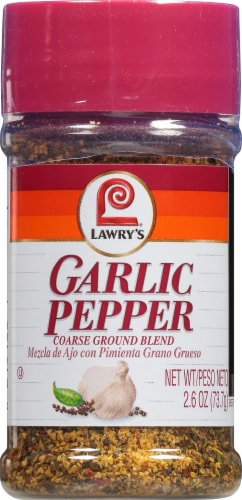 Lawry's Garlic Pepper Shaker Perspective: front