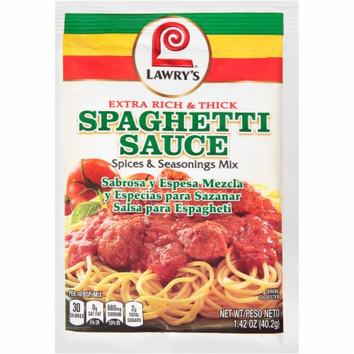 Lawry's® Extra Rich & Thick Spaghetti Sauce Spiced & Seasoning Mix Perspective: front