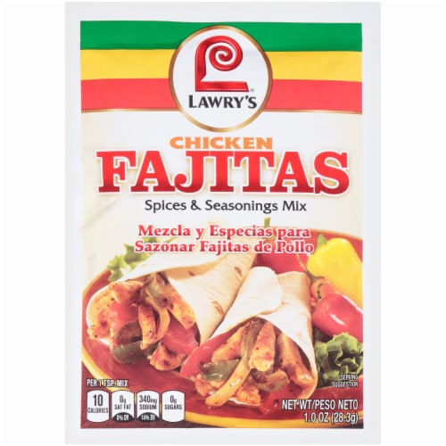 Lawry's Chicken Fajitas Spices & Seasoning Mix Perspective: front