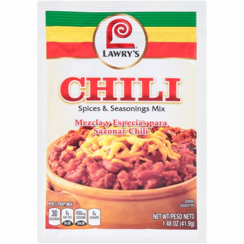 Lawry's Chili Spices & Seasoning Mix Perspective: front