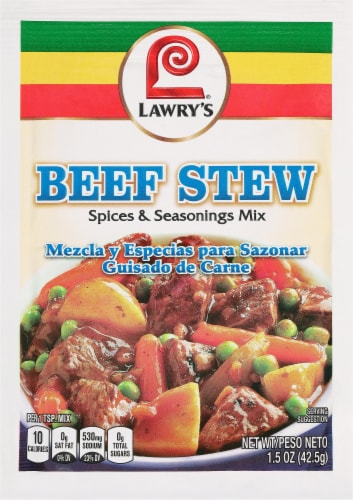 Lawry's Beef Stew Spices & Seasonings Mix Perspective: front