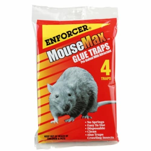 Enforcer MM-4 Mouse Glue Trap - 4 Pack Perspective: front
