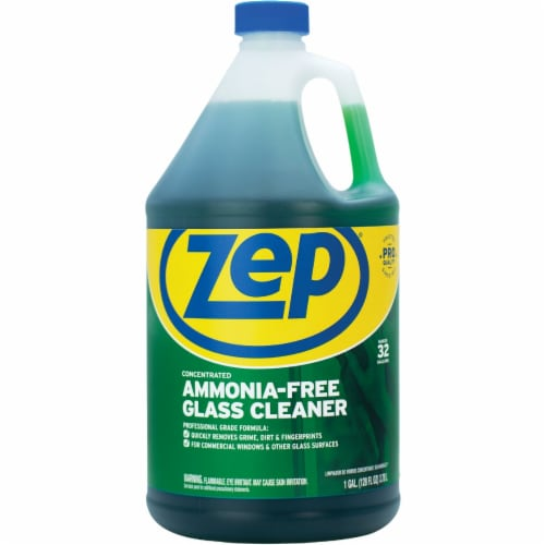 Zep Commercial Cleaner,Glass,Cont,128oz ZU1052128EA Perspective: front