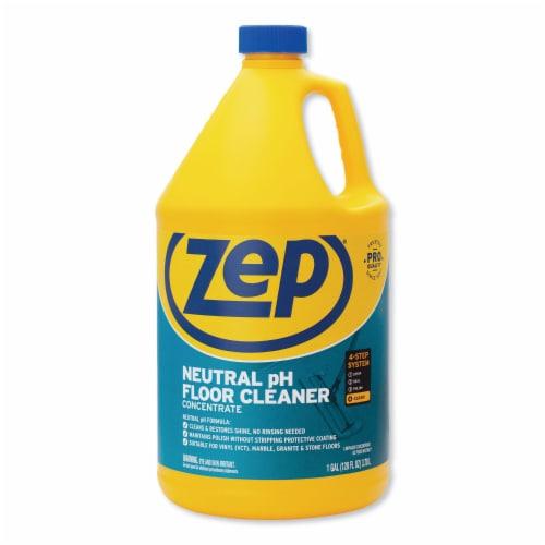 Zep Commercial Neutral Floor Cleaner, Fresh Scent, 1 Gal Bottle ZUNEUT128EA Perspective: front