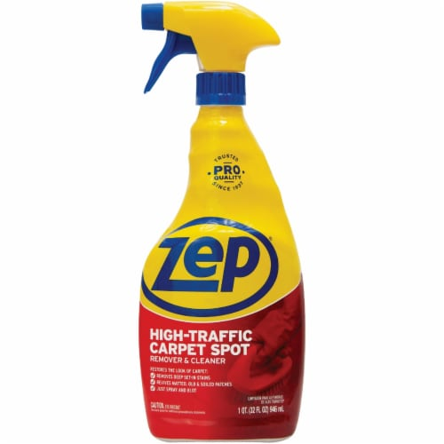 Zep Commercial High Traffic Carpet Cleaner, 32 Oz Spray Bottle ZUHTC32EA Perspective: front