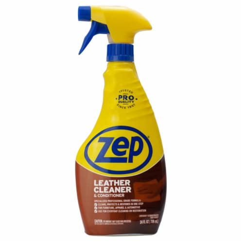 Zep  No Scent Leather Cleaner And Conditioner  24 oz. Liquid - Case Of: 12; Perspective: front