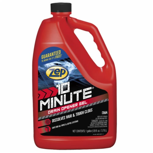 Zep 10 Minute Hair Clog Remover Gel Drain Cleaner 128 oz. - Case Of: 4; Perspective: front