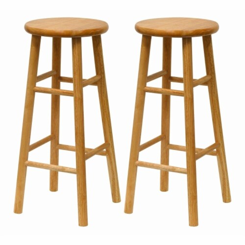 Tabby 2-Pc 30  Bar Stool Set Natural Perspective: front