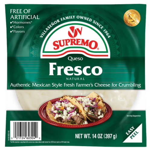 VV Supremo Queso Fresco Fresh Crumbling Cheese Perspective: front
