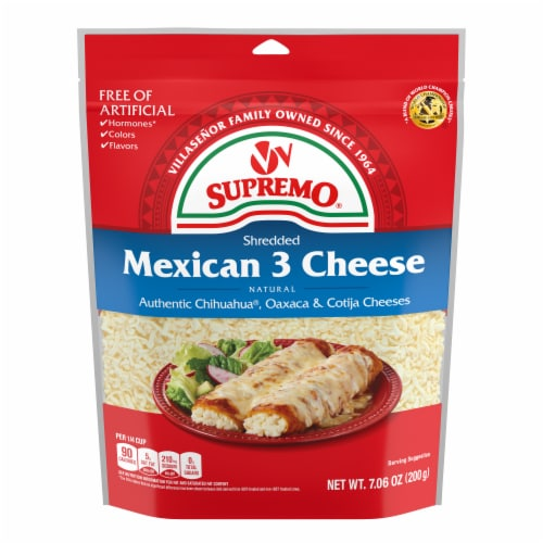 VV Supremo Shredded Mexican 3 Cheese Perspective: front