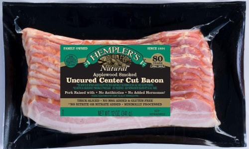 Hempler's Natural Uncured Center Cut Bacon Perspective: front