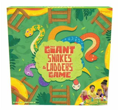 Pressman Giant Snakes & Ladders Game Perspective: front