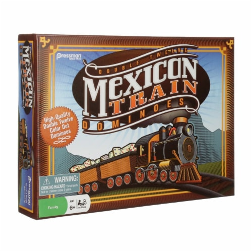 Pressman Toy 1567778 Mexican Train Game Dominoes Perspective: front