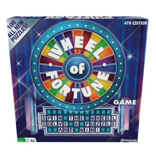 Pressman 4th Edition Wheel of Fortune Board Game Perspective: front