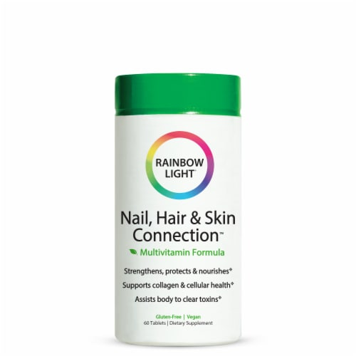 Rainbow Light Nail Hair & Skin Connection Tablets Perspective: front