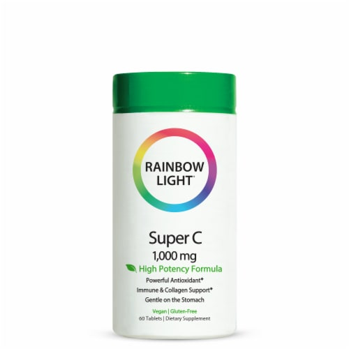 Rainbow Light Super C Vegan Tablets 1000mg Perspective: front