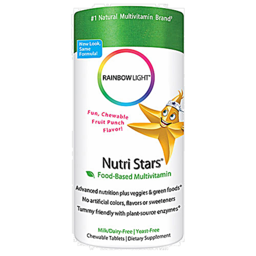 Rainbow Light Nutri-Stars Multivitamin Chewable Tablets Perspective: front