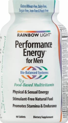Rainbow Light Performance Energy for Men Tablets Perspective: front