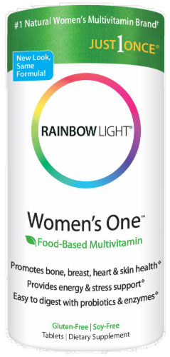 Rainbow Light Women's One Multivitamin Gluten Free Tablets Perspective: front