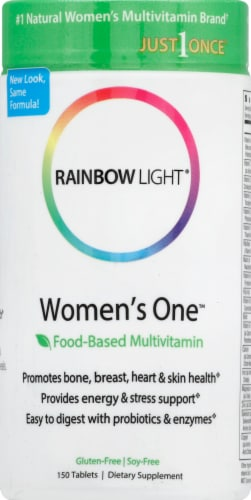 Rainbow Light Women's One Multivitamin Tablets Perspective: front