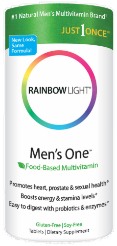 Rainbow Light Men's One Food-Based Multivitamin Tablets Perspective: front