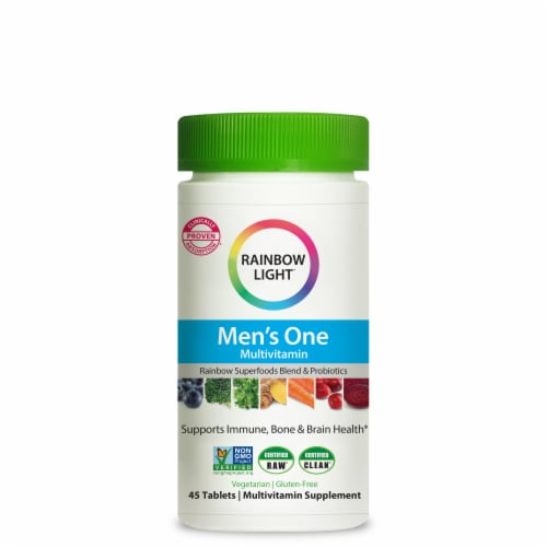 Rainbow Light Men's One Multivitamin Tablets Perspective: front