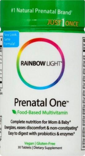 Rainbow Light Prenatal One Multivitamin Gluten Free Vegan Tablets Perspective: front