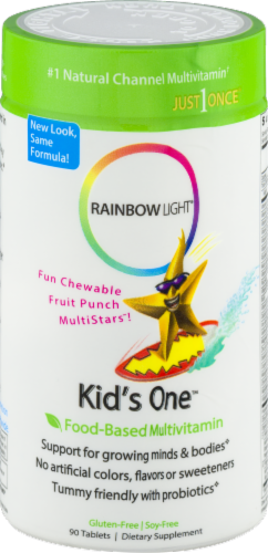 Rainbow Light Kids' One Multivitamin Gluten Free Tablets Perspective: front