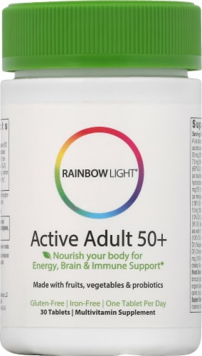 Rainbow Light Active Adult 50+ Multivitamin Tablets 30 Count Perspective: front